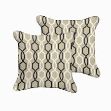 Sloane Black and Tan Indoor/ Outdoor 18 inch Corded Pillow Set