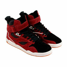 Supra Bleeker Mens Black Suede & Leather High Top Lace Up Trainers Shoes