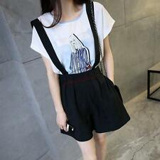 Womens Korean Strappy Shorts Skirt Dress Slim fit Overalls Jumpsuit Pants New Y