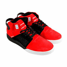 Supra Skytop III Mens Red Suede High Top Lace Up Sneakers Shoes