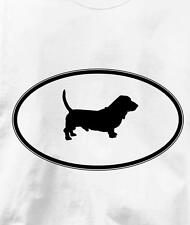 Basset Hound Oval Profile Dog T Shirt All Sizes & Colors