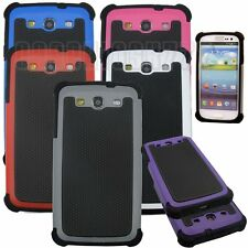 for samsung galaxy S3 rugged hybrid 3 layers i9300 case blue gray hot pink whte
