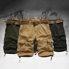 Mens Casual Shorts Overalls Short Pants Cargo work Trousers Without Belt new