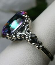 6ct*Mystic Topaz* Sterling Silver Gothic Claw Filigree Ring Size {Made To Order}