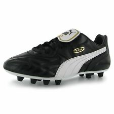 Puma King Top di Firm Ground Mens Football Boots Black/White Soccer Footwear