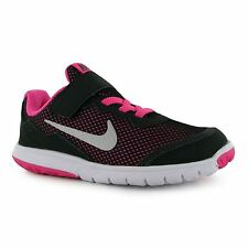 Nike Flex Experience Trainers Junior Girls Blk/Silver/Pink Sports Shoes Sneakers