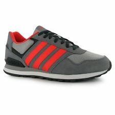 adidas 10k Running Shoes Mens Grey/Red Trainers Sneakers Sports Shoes
