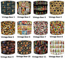 Lampshades, Ideal To Match Vintage Retro Beer Bottles & Wine Bottles Cushions
