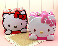 HelloKitty Metal Money Bank Box  Kid Piggy Bank Girl Storage Box w/ Lock KT9707