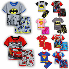 Boys Kids Pajamas Set Marvel Hero T-Shirt Pants Shorts Outfits Sleepwear PJs Lot