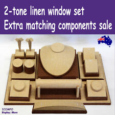Jewellery Window Display Matching Components   FULL 2-tone Linen   AUSSIE Seller