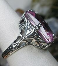 10ct *Pink Topaz* Sterling Silver 1930s Art Deco Filigree Ring Size: Any/MTO