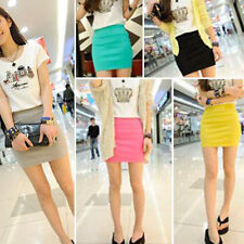 New Fashion Women's Stretch Waist Short Mini Skirt Seamless Cheap Mini Skirts