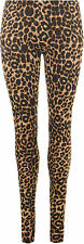New Womens Leopard Animal Print Ladies Stretch Full Length Leggings Pants 8-14