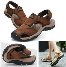 Men's Leather Beach Sandals Fisherman Casual sport loafer Shoes sneaker new