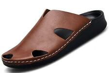 New hollow out Beach faux Leather Mens Fashion Casual Sandals slipper Shoes Hot