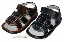 New Infant Baby Toddler Boys Fisherman Leather Sandals Open Toe Summer Spring