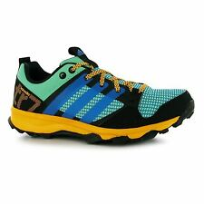 adidas Kanadia 7 Running Shoes Womens Grn/Blue/Gld Trainers Sneakers Sports Shoe