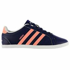 adidas Coneo Leather Trainers Womens Navy/Pink Casual Sneakers Shoes Footwear