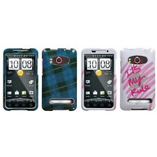 For HTC Evo 4G Design Snap-On Hard Case Phone Cover