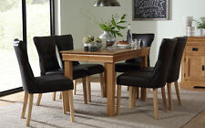 Fenchurch Oak Dining Room Table & 4 6 Bewley Chairs Set (Brown)