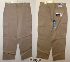 Basic Editions Beige or Green Mens Cargo Pants - Sizes 34 or 36 - NWT