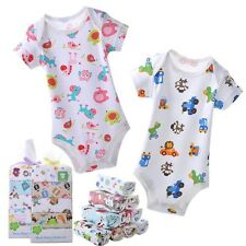 NWT Lot 5PCS Baby Boy Girls Romper Summer Clothes Infant Clothing Set Cotton V25