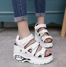 Womens Creepers open Toe Strap Wedges High Heels platform Shoes sport Sandals