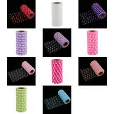 25yd Flocking Polka Dot Tulle Roll Spool Wedding Bridal Bow Decora