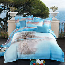 800TC Tree Quilt/Duvet/Doona Cover Set Queen/King Size Bed Pillowcase Cotton New
