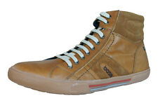 Base London World Mens Leather Hi Top Sneakers / Boots - Tan - PM02243