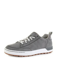 Mens Caterpillar Evasion Charcoal Lace Up Leather Trainers Casual Shoes Sz Size