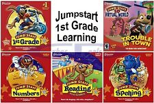 Age 5+ Jumpstart 1ST GRADE Learning Software PC Windows XP Vista 7 8 10 NEW