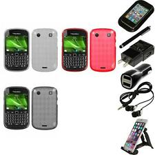 For BlackBerry Bold Touch 9900 9330 TPU Rubber Skin Flexible Case Accessories