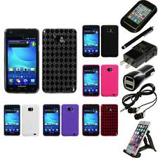 For Samsung Galaxy S2 i9100 TPU Rubber Skin Flexible Case Phone Cover Bundle