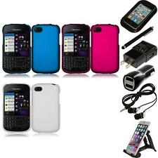 For BlackBerry Q10 Rubberized Matte Snap-On Hard Case Phone Cover Accessories