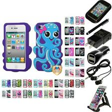 For Apple iPhone 4/4S Silicone Design Skin Soft Phone Case Cover Accessories