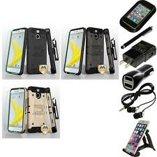 For HTC BOLT Hybrid TUFF IMPACT Holster Clip Hard Case Cover Accessories
