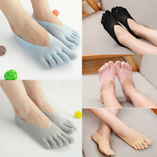 NEW Lady Low Cut Crew Ankle No Show Socks Five Finger Toe Hosiery Dress Socks