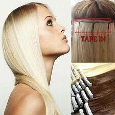 Glue Tape In Seamless Skin Weft Remy Human Hair Extensions 20Pcs 40Pcs US I395