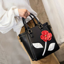 Women PU Leather Flower Messenger Cross Body Shoulder Tote Satchel Handbag Bag G