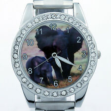 Hot Popular Boy Cartoon Elephant Animal Fashion Leather Quartz Wristwatch L13