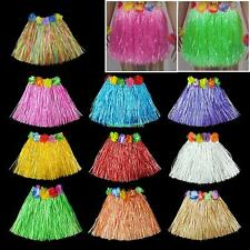 Artificial Grass Luau Skirt With Flowers For Luau Party Beach Party Woman Kids