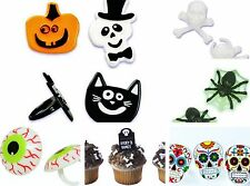 Halloween Icons Assorted Cupcake Rings Party Favors Cake Toppers Decorations