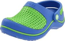 CHILDS CROCS CLOGS IN SEA BLUE/LIME GREEN STYLE - CROSMESH CLOG KIDS
