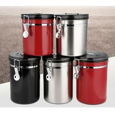 Stainless Steel Coffee Tea Canister Jar Box Sugar Storage Pot Seal Can Kitchen