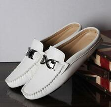 Chic mens casual slipper sandal slip on loafer leather driving shoes new Hot YTK