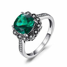 JewelryPalace 2.2ct Created Nano Russian Emerald  Anniversary Ring 925 Silver
