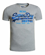 New Mens Superdry Factory Second Vintage Logo T-Shirt Grey Marl