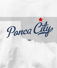Ponca City, Oklahoma OK MAP Souvenir T Shirt All Sizes & Colors